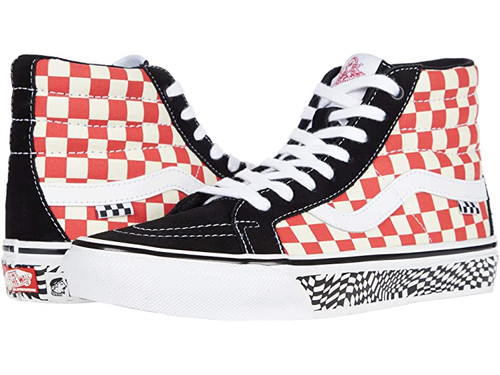 Vans Sk8-Hi Pro Re-issue (Red/Checkerboard)