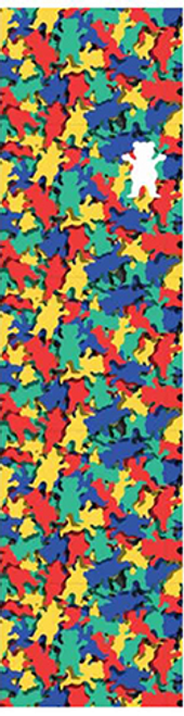 """GRIZZLY 9"""" PATTERN FILL OG BEAR PERFORATED SHEET"""