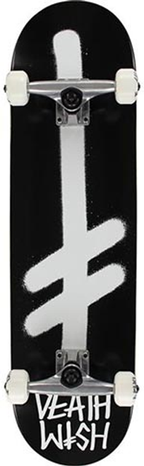 DEATHWISH GANG LOGO BLACK/WHITE COMPLETE 8.25