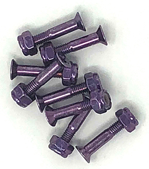 "BULK 1"" HARDWARE 8-PACK ANODIZED PURPLE"