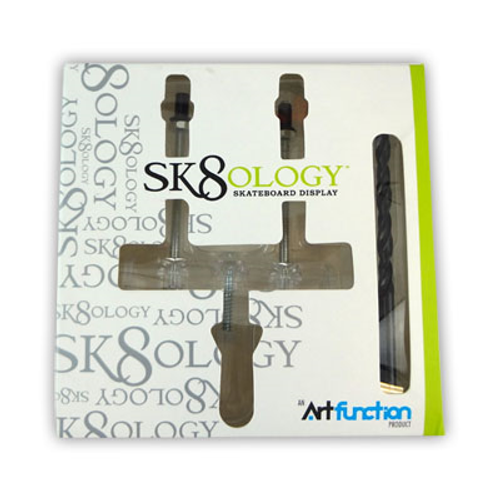 SK8OLOGY SKATEBOARD WALL DISPLAY MOUNT WITH DRILL BIT