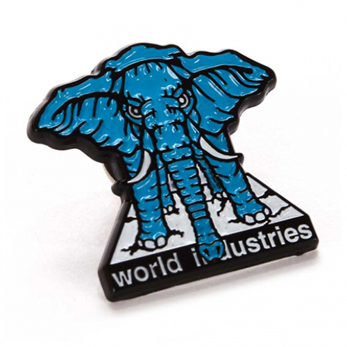 """PRIME MIKE VALLELY ELEPHANT ON THE EDGE 1"""" LAPEL PIN"""