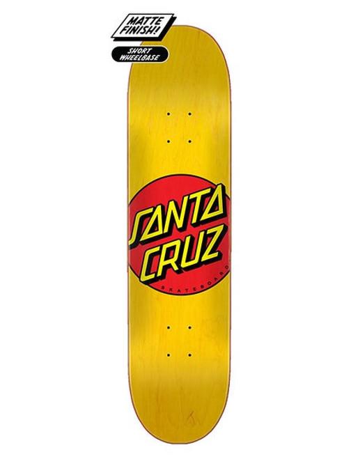 "Santa Cruz 7.75"" Classic Dot Yellow Deck 7.75 x 31.62"
