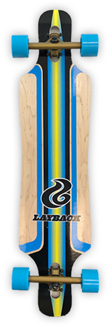 LAYBACK FINISH LINE BLUE BAMBOO DROP THROUGH COMPLETE 9.5 X 40