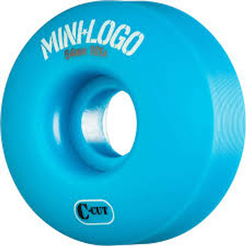 MINI LOGO C CUT BLUE 54MM 101A (Set of 4)