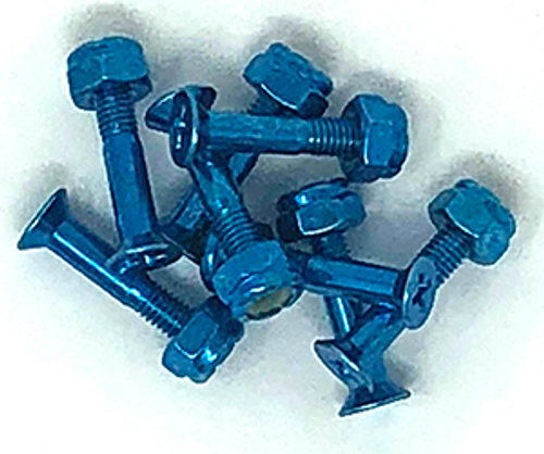"BULK 1"" HARDWARE 8-PACK ANODIZED BLUE"