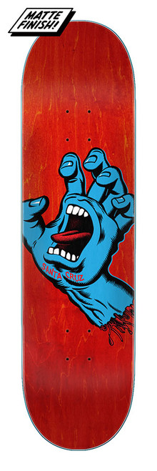 "Santa Cruz 8.0"" Screaming Hand 8.0in x 31.6in Deck"