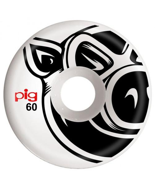 Pig Head 60mm 101a  Conical 3D Wheels White