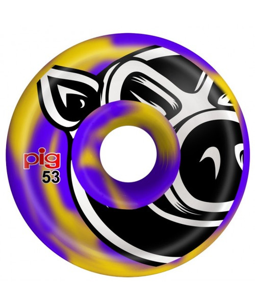 Pig 53mm Conical Purple/Yellow Swirl  101A