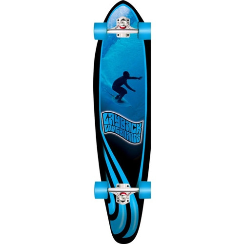 LAYBACK SLOTTED KICK TAIL LONGBOARD COMPLETE 9.75 x 40.00
