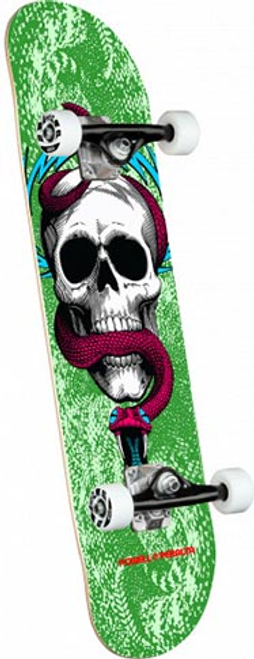 """POWELL 7.75"""" SKULL & SNAKE ONE OFF GREEN COMPLETE 7.75 X 31.08"""