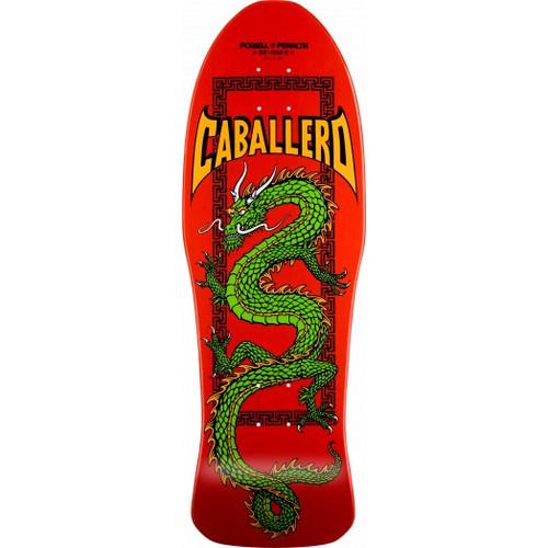 "Powell Peralta 10"" Steve Caballero Chinese Dragon Red Skateboard Deck - 10 x 30"
