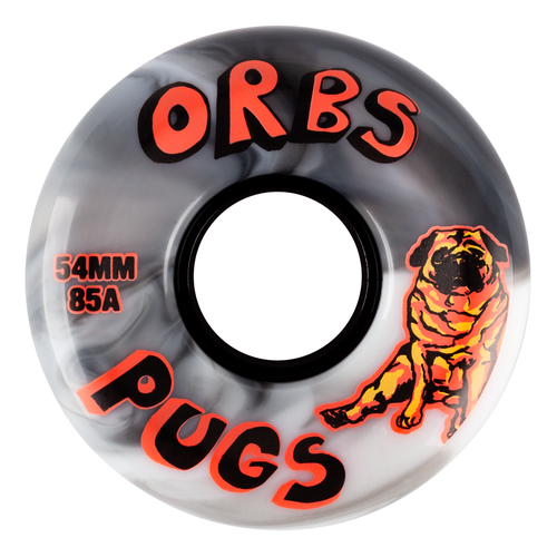 ORBS 54MM PUGS BLACK/WHITE (Set of 4)