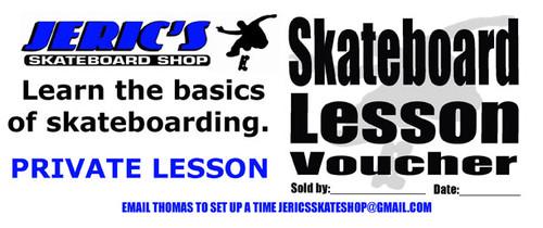Skateboard Lesson Gift Certificate