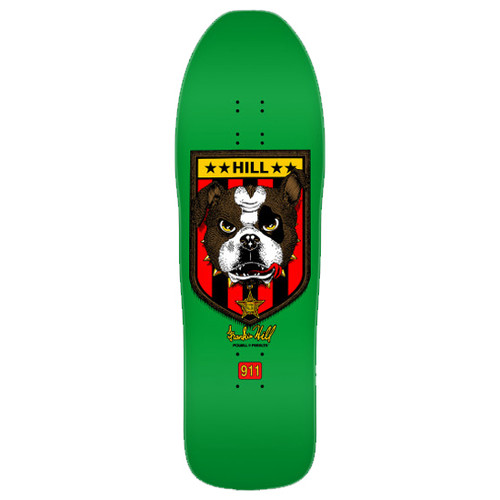 "POWELL 10"" HILL BULLDOG GREEN RE-ISSUE DECK 10.00 X 31.50"