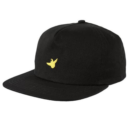 KROOKED OG BIRD SNAPBACK HAT BLACK