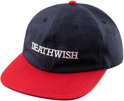 DEATHWISH ANTIDOTE SNAPBACK HAT NAVY/RED