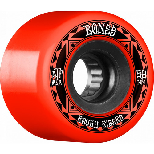 Bones 59mm Rough Rider Runners ATF 80A Wheels (Red) (Set of 4)