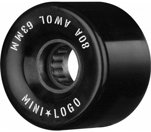MINI LOGO 63mm A.W.O.L. BLACK 63MM 80A (Set of 4)