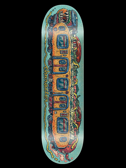 """Character 8.38"""" CHICAGO STYLE TRAIN DECK BY JOEY D."""