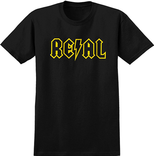 REAL DEEDS OUTLINE BLACK/YELLOW Size Medium