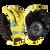 SECTOR 9 RUSH SLIDE GLOVES - YELLOW - XS