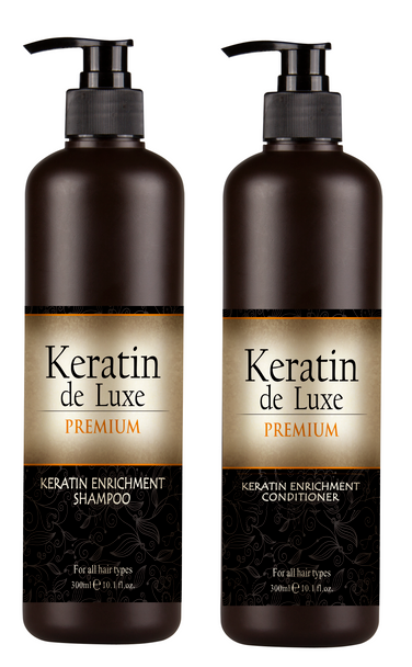 Keratin Premium Shampoo,  Conditioner & Oil Set All Hair Types 500 ml
