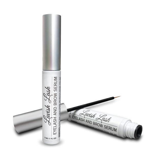 Lavish Lash - Eyelash Growth Enhancer & Brow Serum with Biotin & Natural Growth Peptides for Long, Thick Looking Lashes and Eyebrows 3ml