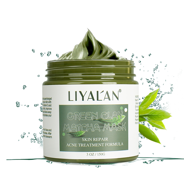 Green Tea Facial Mud Mask for all Skin types- Deep Pore Cleansing & Blackhead Remover Mud Mask, Pore Minimizer, Hydrating and Moisturizing