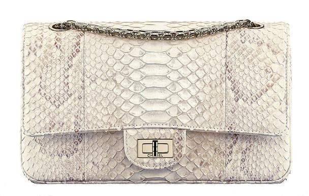 Chanel 2.55 Python Flap Bag
