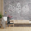 Lasercut Acrylic Wall Art - Tropical Leaves Set of 3