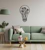 Lasercut Acrylic Wall Art - Lightbulb Vase