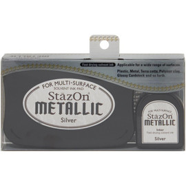 StazOn Metallic Ink Pad Kit - Silver