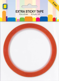 Extra sticky red double sided tape 6mm