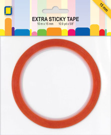 Extra sticky red double sided tape 15mm wide