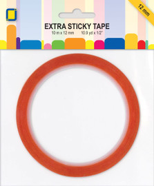 Extra sticky red double sided tape 12mm