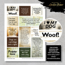 One A4 sheet of sayings or quotes based on our friend the dog theme. We have used Acid free paper, this is printed on plain matt white card, but can be inked, or sprayed to match your projects. It is very good for tearing, and with clear boxes, trimming is made easy. Printed here in New Zealand. can be used for scrap booking, card making, art journalling or off the page projects.
