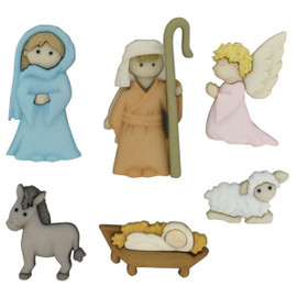 Dress it up Nativity Buttons