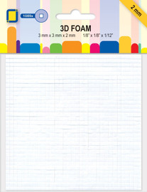 3D Foam 2mm thick Assorted Squares Rectangles
