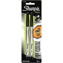 Sharpie Fine Point Writing Pens 2 Pkg - Black