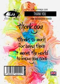 Visible Image stamps - Thank you