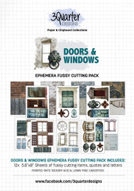 3Quarter Designs Ephemera Packs: Doors and Windows