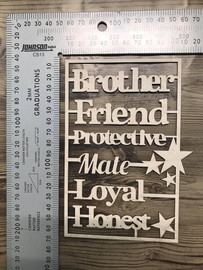Brother Words Set -Chipboard