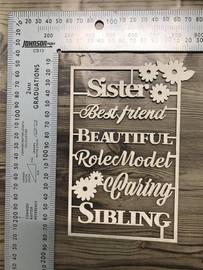 Sisters Words Set -Chipboard