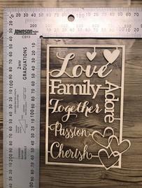 Love Words Set -Chipboard