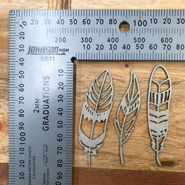 Feathers set of 3 -Chipboard