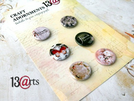 13 Arts set 6 badges 25mm