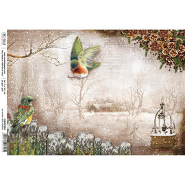 Ciao Bella Rice Paper Sheet A4 No winter lasts forever