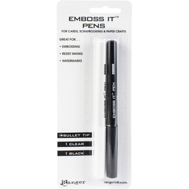 Embossing Pen set 2 - Black and Clear