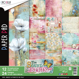 "Ciao Bella Double-Sided Paper Pack 90lb 12""X12"" 12/Pkg Sound Of Spring, 12 Designs/1 Each2""X12"" 8/Pkg Collateral Rust, 8 Designs/1 Each"